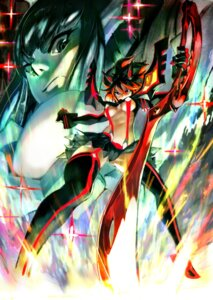 Rating: Questionable Score: 41 Tags: kill_la_kill kiryuuin_satsuki matoi_ryuuko sword thighhighs underboob yang-do User: Konngara