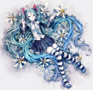 Rating: Safe Score: 29 Tags: hatsune_miku ikushima thighhighs vocaloid User: oppai