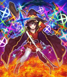 Rating: Safe Score: 13 Tags: bandages dress frgs kono_subarashii_sekai_ni_shukufuku_wo! megumin thighhighs weapon witch User: Dreista