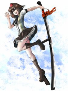 Rating: Safe Score: 3 Tags: miatsushi shameimaru_aya sword touhou User: Radioactive