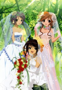 Rating: Safe Score: 38 Tags: aratani_tomoe asahina_mikuru cleavage dress nagato_yuki suzumiya_haruhi suzumiya_haruhi_no_yuuutsu wedding_dress User: Radioactive
