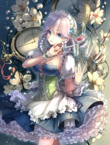 Rating: Safe Score: 89 Tags: cleavage izayoi_sakuya kieta touhou weapon User: Mr_GT