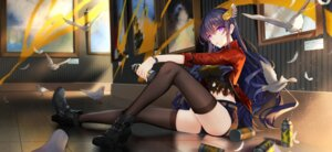 Rating: Safe Score: 41 Tags: bison heels smoking thighhighs witch_weapon User: RyuZU