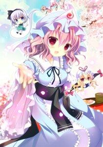 Rating: Safe Score: 44 Tags: chibi dress konpaku_youmu saigyouji_yuyuko shirogane_hina touhou yakumo_yukari User: 椎名深夏