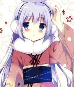 Rating: Safe Score: 66 Tags: gochuumon_wa_usagi_desu_ka? kafuu_chino kimono shiratama shiratamaco User: Twinsenzw