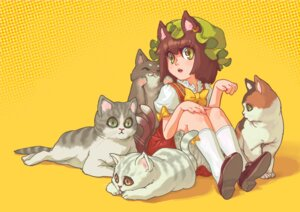 Rating: Safe Score: 4 Tags: animal_ears chen momiji neko touhou User: Mr_GT
