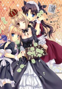 Rating: Safe Score: 43 Tags: cleavage fate/hollow_ataraxia fate/stay_night lolita_fashion maid saber saber_alter tatekawa_mako thighhighs toosaka_rin wnb User: fireattack