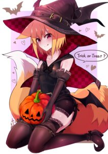 Rating: Safe Score: 44 Tags: animal_ears dress halloween heels kitsune sukemyon tail thighhighs wings witch User: Cyberbeing