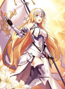 Rating: Safe Score: 89 Tags: armor fate/grand_order fate/stay_night fuyuki_(neigedhiver) jeanne_d'arc thighhighs weapon User: Mr_GT