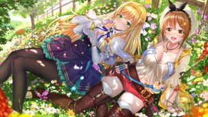 Rating: Safe Score: 43 Tags: atelier atelier_ryza cleavage dress klaudia_valentz pantyhose reisalin_stout swordsouls thighhighs wallpaper User: Mr_GT