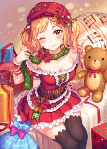 Rating: Questionable Score: 43 Tags: bang_dream! christmas cleavage ichigaya_arisa r_o_ha thighhighs User: sym455
