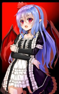 Rating: Safe Score: 42 Tags: dress pointy_ears remilia_scarlet shiron thighhighs touhou wings User: Mr_GT