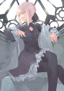 Rating: Safe Score: 25 Tags: dress fate/stay_night okazaki_takeshi pantyhose saber saber_alter User: Radioactive