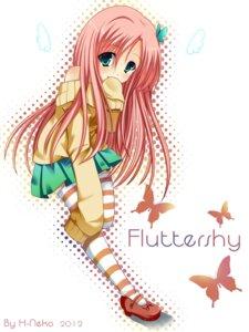 Rating: Safe Score: 8 Tags: fluttershy mane_6 my_little_pony:_friendship_is_magic sweater thighhighs User: Zatsune_Miku