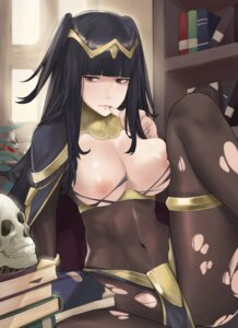 Rating: Questionable Score: 27 Tags: bodysuit breasts fire_emblem fire_emblem_kakusei garter j@ck nipples no_bra nopan tharja torn_clothes User: BattlequeenYume
