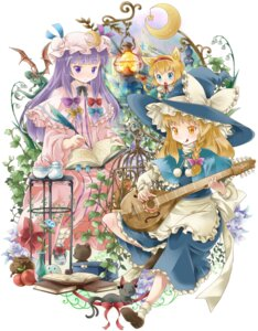 Rating: Safe Score: 5 Tags: alice_margatroid kirisame_marisa michii_yuuki neko patchouli_knowledge touhou User: fireattack