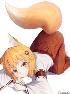 Rating: Safe Score: 25 Tags: animal_ears bintz kitsune miko senko-san sewayaki_kitsune_no_senko-san tail User: Nepcoheart