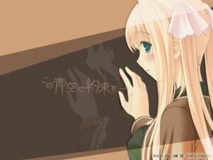 Rating: Safe Score: 7 Tags: hayama_umi kono_aozora_ni_yakusoku_wo nekonyan wallpaper User: Devard