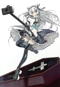 Rating: Safe Score: 52 Tags: chaika_trabant gothic_lolita gun heels hitsugi_no_chaika lolita_fashion namaniku_atk thighhighs User: Radioactive