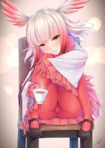 Rating: Questionable Score: 50 Tags: cameltoe crested_ibis kemono_friends kurofude_anastasia pantyhose wings User: Mr_GT