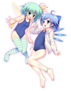Rating: Safe Score: 34 Tags: cirno daiyousei pikazo school_swimsuit swimsuits thighhighs touhou wings User: Mr_GT