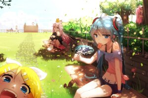 Rating: Safe Score: 61 Tags: hatsune_miku ia_(vocaloid) kagamine_rin megurine_luka sen_ya tattoo vocaloid User: KazukiNanako