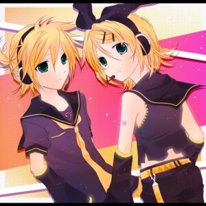 Rating: Safe Score: 8 Tags: 0519 kagamine_len kagamine_rin vocaloid User: minakomel