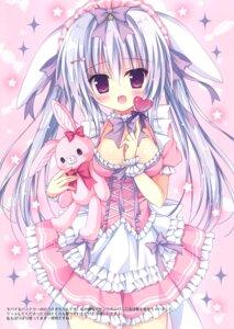 Rating: Safe Score: 30 Tags: animal_ears bunny_ears cleavage hasune hasuneya maid User: kiyoe