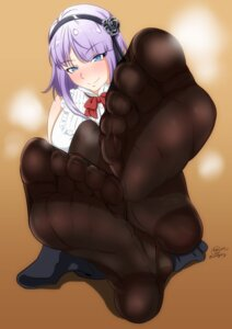 Rating: Safe Score: 55 Tags: amaaay_zing dagashi_kashi feet pantyhose see_through shidare_hotaru User: MurakumoJP