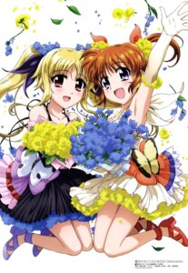 Rating: Questionable Score: 40 Tags: dress fate_testarossa hashidate_kana heels mahou_shoujo_lyrical_nanoha takamachi_nanoha User: drop