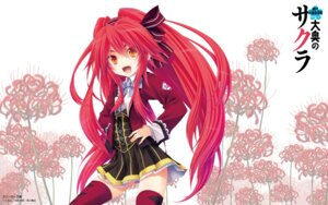 Rating: Safe Score: 35 Tags: miyama-zero ouoku_no_sakura seifuku thighhighs wallpaper User: blooregardo