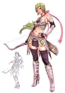 Rating: Safe Score: 25 Tags: armor elf pointy_ears thighhighs yamashita_shunya User: Radioactive