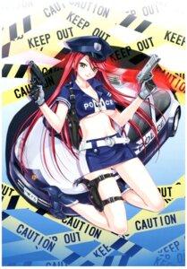 Rating: Questionable Score: 35 Tags: cleavage gun happoubi_jin heels police_uniform underboob User: 4ARMIN4
