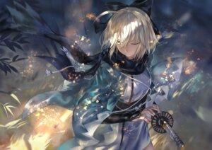 Rating: Safe Score: 50 Tags: avamone fate/grand_order japanese_clothes sakura_saber sword User: Mr_GT