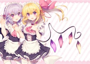 Rating: Safe Score: 39 Tags: flandre_scarlet maid neno_(nenorium) remilia_scarlet thighhighs touhou wings User: Mr_GT
