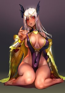 Rating: Questionable Score: 89 Tags: armor cleavage erect_nipples g_scream horns no_bra nopan wings User: Mr_GT