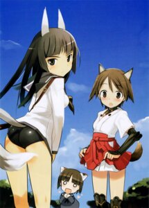 Rating: Safe Score: 20 Tags: anabuki_tomoko miyafuji_yoshika shimada_humikane strike_witches User: van