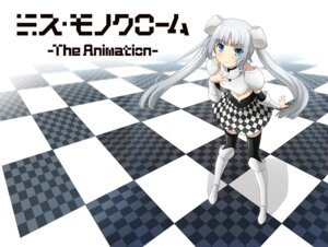 Rating: Safe Score: 30 Tags: miss_monochrome miss_monochrome_(character) tagme thighhighs User: akusiapa