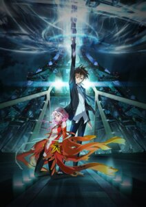 Rating: Safe Score: 55 Tags: guilty_crown katou_hiromi ouma_shuu pantyhose sword yuzuriha_inori User: Devard