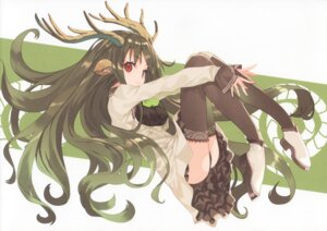Rating: Safe Score: 38 Tags: animal_ears ass dress heels horns pantsu shirabi thighhighs User: yong