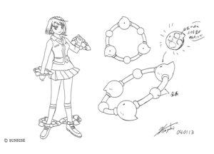 Rating: Safe Score: 3 Tags: character_design hisayuki_hirokazu mai_hime seifuku tokiha_mai weapon User: Radioactive