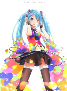 Rating: Safe Score: 48 Tags: hatsune_miku minamito see_through tell_your_world_(vocaloid) thighhighs vocaloid User: Mr_GT