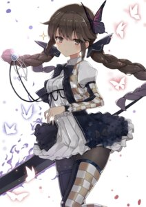 Rating: Safe Score: 57 Tags: a_(nanananaaannaa) dress pantyhose thighhighs weapon User: nphuongsun93
