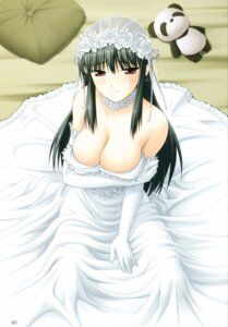 Rating: Questionable Score: 61 Tags: breast_hold cleavage dress kimi_ga_aruji_de_shitsuji_ga_ore_de kuonji_shinra minato_soft see_through shironeko_sanbou wedding_dress User: Wraith