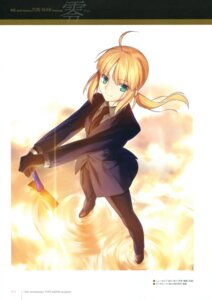 Rating: Safe Score: 34 Tags: business_suit fate/stay_night fate/zero saber sword takeuchi_takashi type-moon User: fireattack