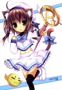 Rating: Questionable Score: 47 Tags: animal_ears karory nekomimi tail thighhighs weapon User: drop