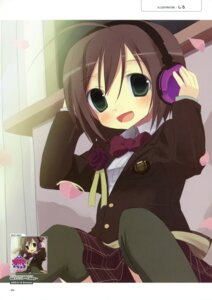 Rating: Safe Score: 8 Tags: exit_tunes headphones seifuku siro thighhighs User: crim