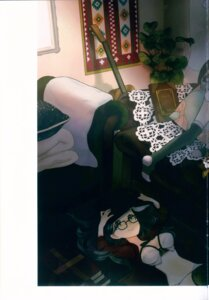 Rating: Questionable Score: 8 Tags: ancotaku cleavage guitar megane sentiment_color thighhighs User: Radioactive