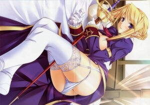 Rating: Questionable Score: 52 Tags: areola ass breasts crease dress fixme garter_belt komori_kei no_bra open_shirt pantsu panty_pull princess_lover! ricotta skirt_lift stockings sword sylvia_van_hossen thighhighs uniform User: petopeto