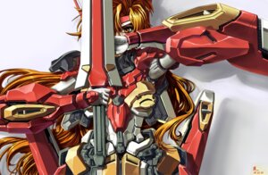 Rating: Safe Score: 4 Tags: jian_huang mecha_musume revirias super_robot_wars super_robot_wars_k User: Radioactive